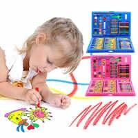 Besegad 86 pièces enfants enfants Crayon de couleur artiste Kit peinture Crayon marqueur stylo pinceau outils de dessin ensemble fournitures de maternelle