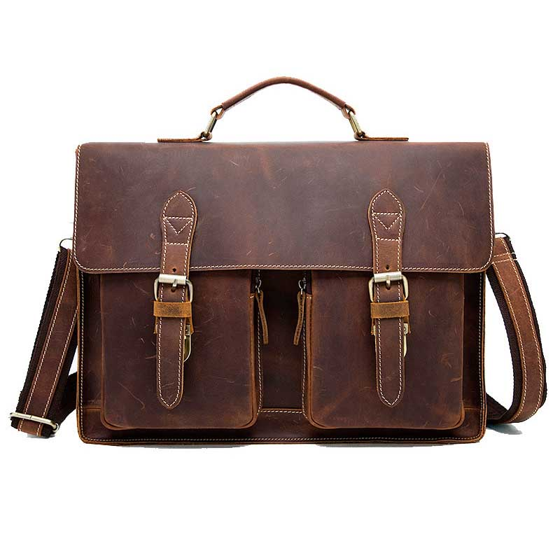 NEW Genuine Leather Business Briefcase Handbags Laptop bags Vintage Men Crossbody Bags Shoulder Tote Bags Men Travel Laptop Bag цена 2017