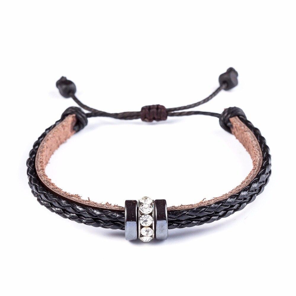 2017 Snaps Jewelry Stones Adjustable Love Bracelets & Bangles,genuine  Leather Bracelet Women,h Lace Cuff Bracelet For Women