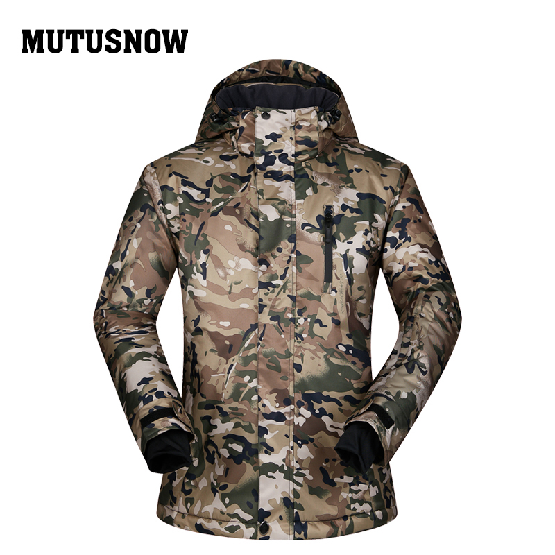 MUTUSNOW Brand Men Ski Jacket Super Warm Clothing Camouflage Windproof Waterproof Breathable Outdoor Sport Wear Male Winter Coat lurker shark skin soft shell v4 military tactical jacket men waterproof windproof warm coat camouflage hooded camo army clothing