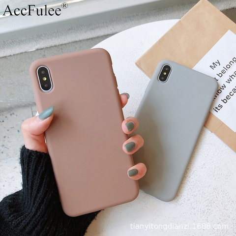 Ultra thin Solid Color Cases For iPhone 4 4s 5S SE 6 6S 7 8 Plus XR XS 11 Pro Max Soft TPU Case Phone Cover Pakistan
