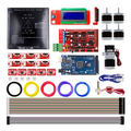 Набор для 3D-принтера RAMPS 1 4 + Mega 2560 + A4988 + мотор + LCD2004 + MK3 Heatbed + концевая опора + экструдер MK8 RepRap + PLA  набор нитей накаливания 1 75 дюйма