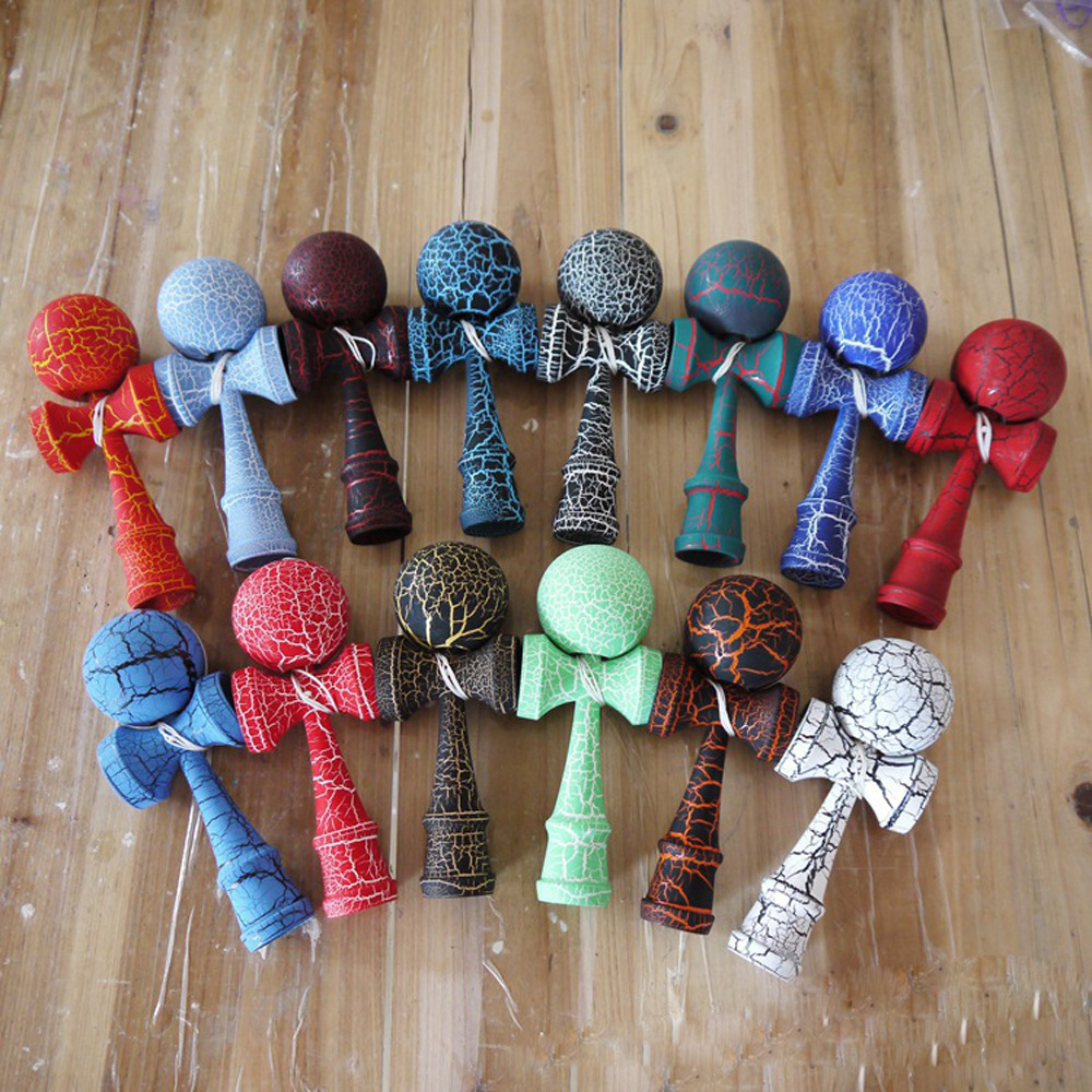 18.5CM Kendama Wooden Outdoor Sports Toy Skillful Kendama Professional Balls Toys For Children Kids Strings Professional Adult