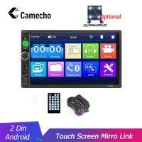 Camecho auto radio 2 din Car Radio 7 Inch Auto Radio Multimedia Player with Android Mirror link Support Steering Wheel Remote