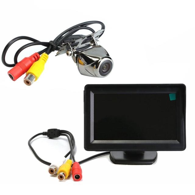 "De Metal AUTO Invertendo Câmera de Estacionamento Sensor De 170 + 4.3 ""LCD Monitor Car Vista Traseira kit"