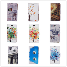 20 Cartoon Pattern Wallet Flip Leather Case Cover For Huawei Y3 II Y5 II Printing Pattern Flip Case For Huawei Y3 II Y5 II