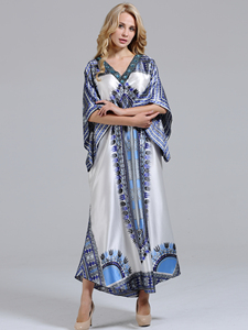 Image 1 - Unique Dashikiage Diamond Collar Stunning Elegant African Dashiki ladies dress
