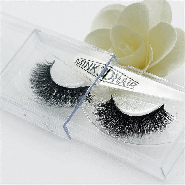 1 pair 3D mink eyelash Handmade crossing lashes thick Natural False Eyelashes for Beauty Makeup