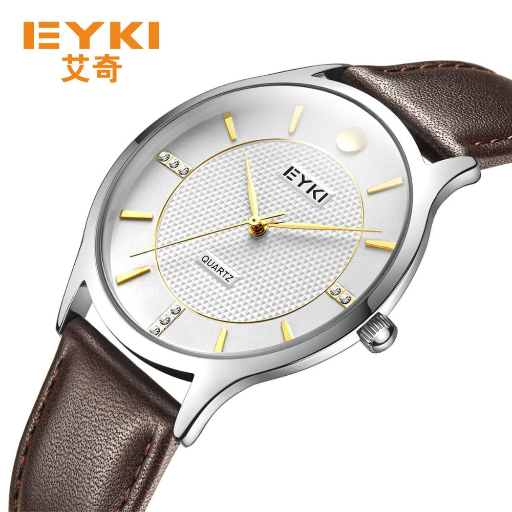 2018 New Men Bracelet Watch Lovers Watches Eyki Brand Stainless Steel Waterproof Clock Quartz Fashion Women Dress Wristwatch new arrival 2015 brand quartz men casual watches v6 wristwatch stainless steel clock fashion hours affordable gift