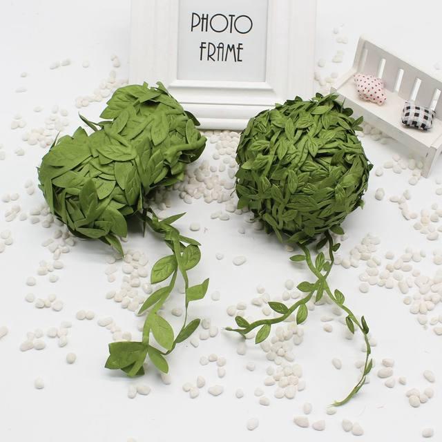 Online Shop Cheap 5 M Meadow Nature Foliage Green Leaf Artificial