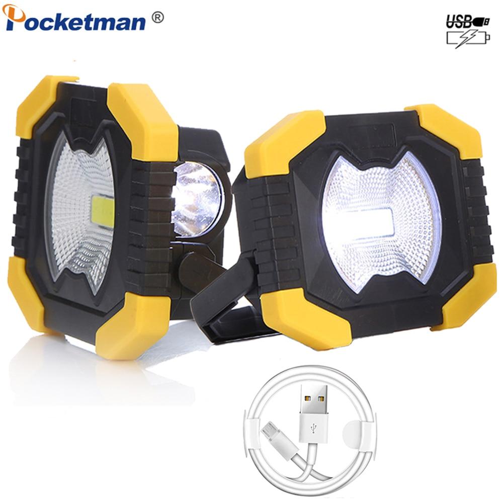 Lampe de travail Rechargeable USB 100 W projecteur puissant lampe de Camping à énergie solaire lampe de poche avec batterie 2400 mAh intégrée
