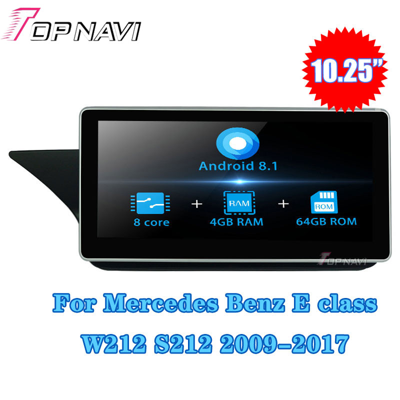 <font><b>Android</b></font> 8.1 Autoradio Car Radio GPS Navigation 10.25''For Mercedes <font><b>Benz</b></font> E class <font><b>W212</b></font> S212 2015-2016 Car Multimedia player Stereo image