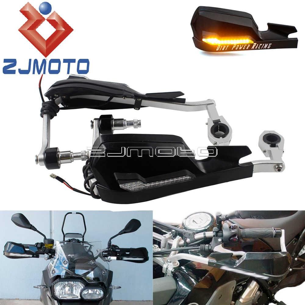 2×Motorcycle LED Windshield Hand Guard Signal Light 7//8 inch Handlebar Driving