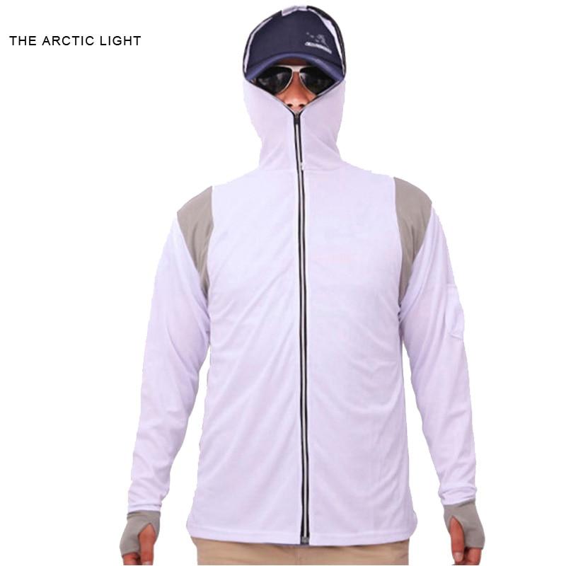HET ARCTISCHE LICHT Nieuw vest met rits Man Anti UV-shirt Ademend - Kamperen en wandelen