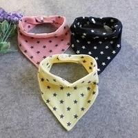 Children Baby Girls Boys Bibs High quality Cotton Star Print Triangle Towel Cartoon Saliva Towel Baby Accessories Baby Bibs