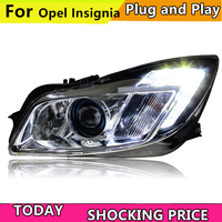 Car Styling For Buick Regal led headlights For Opel Insignia head lamp Angel eye led DRL front light Bi Xenon Lens xenon HID KIT