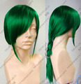 heat resistant Party hair >>>New Fashion Long Dark Green Cosplay Wig jf121