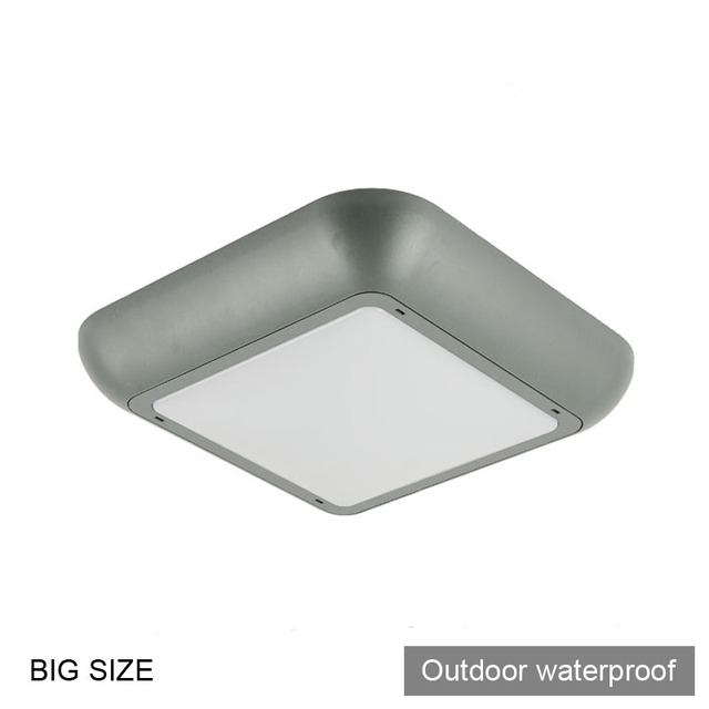 2x Square Modern Outdoor Waterproof Ceiling Light Lamp Gas Station Bathroom Led Balcony Wall