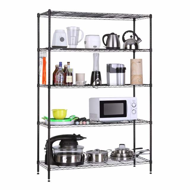 US $59.99 20% OFF|LANGRIA 5 Tier Heavy Duty Extra Large Garage Kitchen Wire  Shelving Unit Storage Organization Rack Shelving Rack Home Furniture-in ...