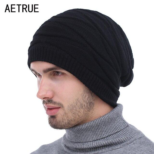 d7ebda005e1 Winter Beanies Knitted Hat Men Fashion Caps Warm Baggy Skullies Balaclava  Bonnet Brand Mask Winter Hats