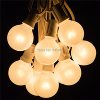 G40 Outdoor Patio String Lights Set 7 5Meter With 25 G40 Frosted White Bulbs Xmas Wedding