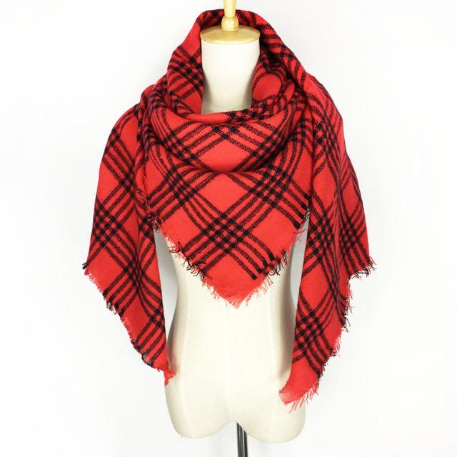 Red Black Striped Scarf | Blanket Scarves