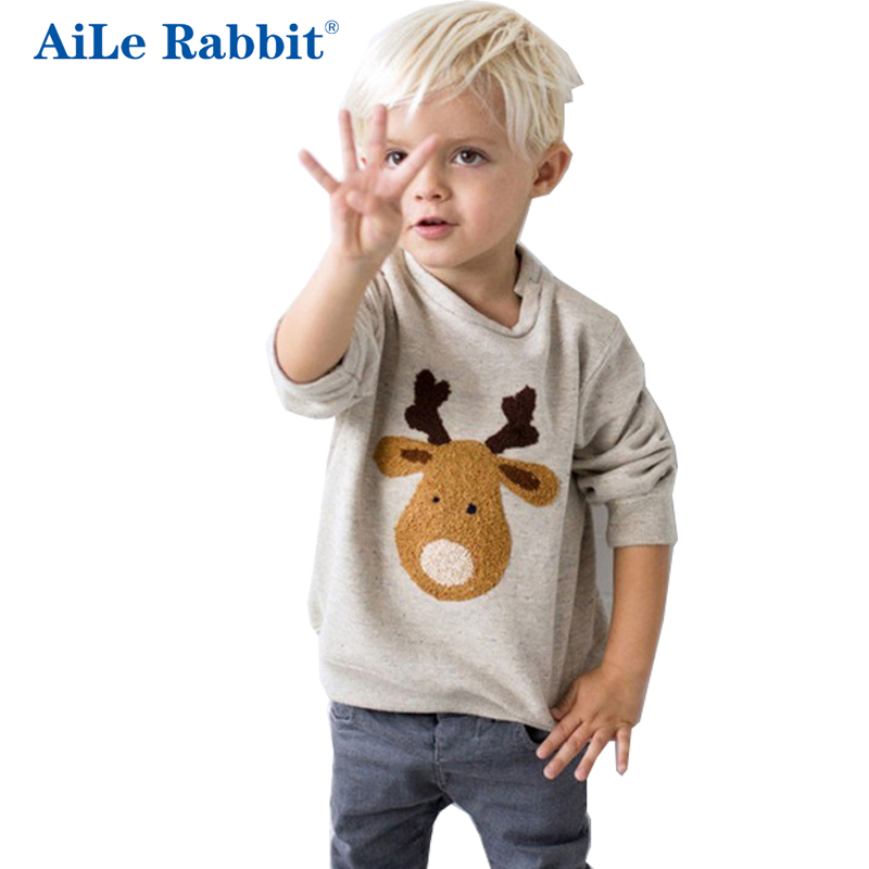 AiLe Rabbit free shipping Winter Kids Baby Long Sleeve Sweater Tops Crew Neck Casual Warm Pullover Blouse v neck layered long sleeve pullover sweater
