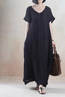 2016 nieuwe lente zomer stijl katoen linnen losse lange jurk elegante lange jurk china stijl junioren maxi jurk linnen jurk