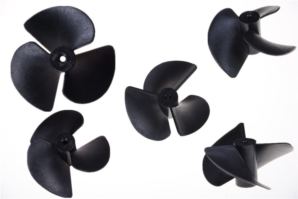 1 pairs Rc boat blades paddle 3 blades nylon boat propeller positive /& revers XE