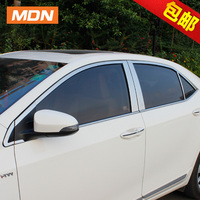 Free Shipping 304 Stainless Steel Car Window Trims For Toyota Corolla E170 International Version 2013 2014