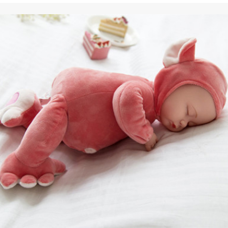 35CM Baby Dolls Reborn Doll Toy For Kids Accompany Sleep Cute Vinyl Plush doll Girl Lifelike Kids Toys Gift Plush Stuffed Toys ocean creatures plush crab cushion doll cute stuffed simulative toys for baby kids birthdays gifts 27 23cm 10 5 9