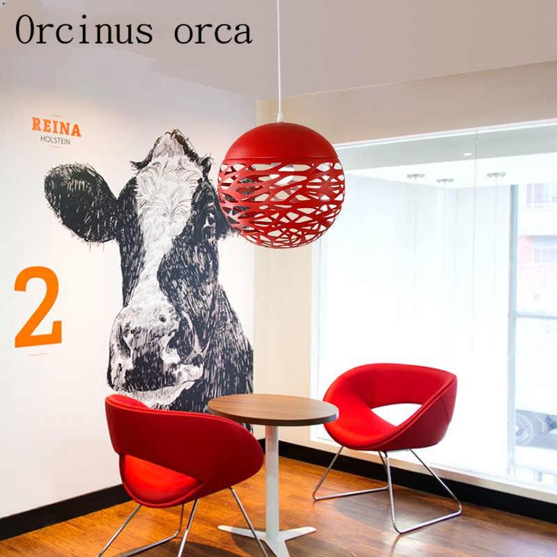 Скандинавская Современная Минималистичная однорожковая Люстра для офиса, ресторана, кафе, бара, креативная, пустой Железный, бесплатная доставка