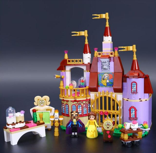 LEPIN Princess Belle's Enchanted Castle Building Blocks Boy for Girl Beauty and the Beast Model Set Gift Toys For Children