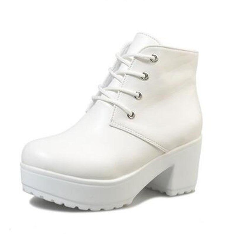 हॉट स्प्रिंग 2018 नए विशेष क्रॉस-स्ट्रैप भारी तले वाले मफिन ऊँची एड़ी के जूते मार्टिन पंक जूते महिलाओं के जूते के साथ किसी न किसी