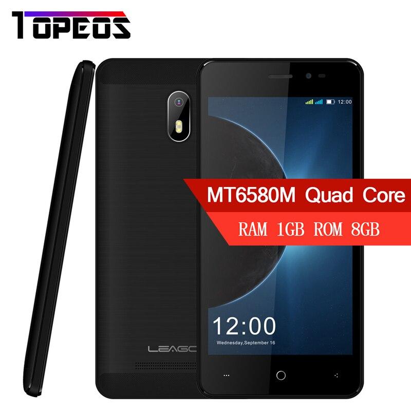 LEAGOO Z6 3G Smartphone Android 6.0 4.97 affichage Mobile Téléphone MT6580M Quad Core 1.3 GHz 1 GB RAM 8 GB ROM 2000 mAh Téléphones