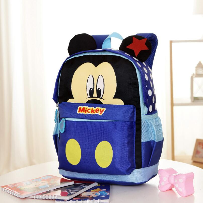 Kids Kindergarten Backpack/kid School Bags/Satchel For Boys And Girls Free Shipping Cartoon Mickey Children Backpacks