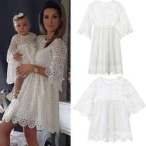 0927c05193 hirigin 2018 New Clothes Floral White Lace Short Mini Dress