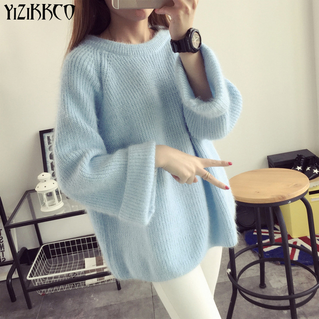 YiZiKKCO Brand Woman Sweaters Pullovers 2016 New Autumn Winter Knitted Sweater Womens Pullover Pull Femme Sweter Mujer WHD181