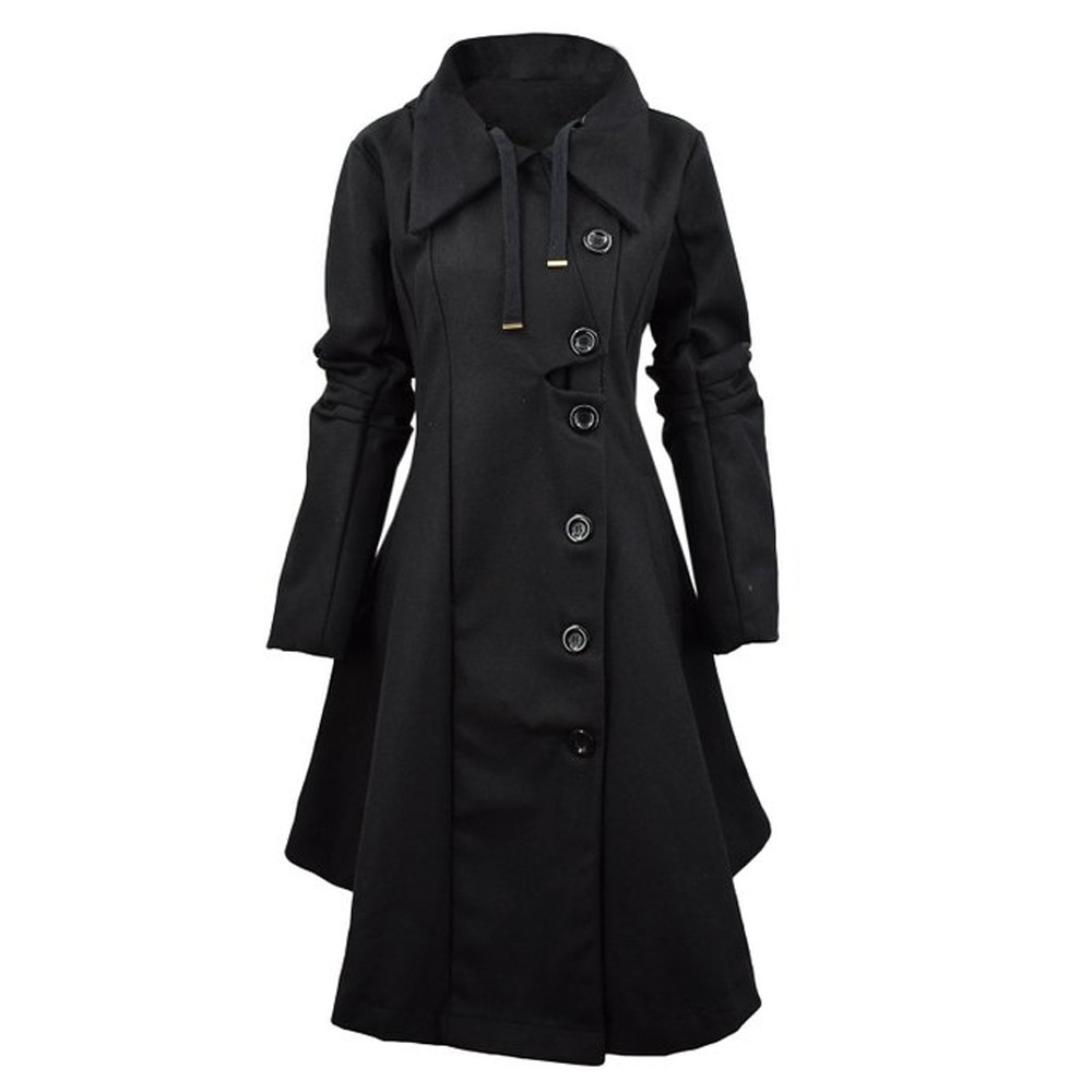 Popular Ladies Long Black Coat-Buy Cheap Ladies Long Black Coat ...