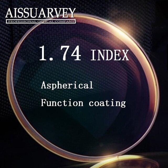 Высокое качество оптический рецепт 1.74 Супер тонкий асферических HC TCM УФ рецепту смолы линзы для близорукости lentes opticos