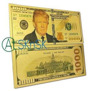 1pc Melania Trump 500 $ billet de banque, Mike Pence 50 $ billet de banque, 100 $/1000 $ Donald Trump Bill 100 $ US feuille d'or Dollar