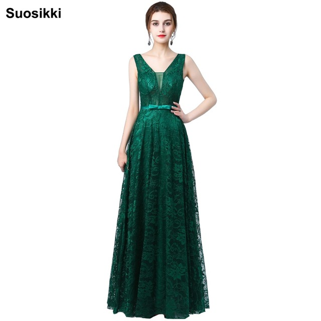d2d84d5038 Suosikki New Design Sky blue v-neck sexy backless lace prom dresses long  formal evening party gown abendkleider plus size