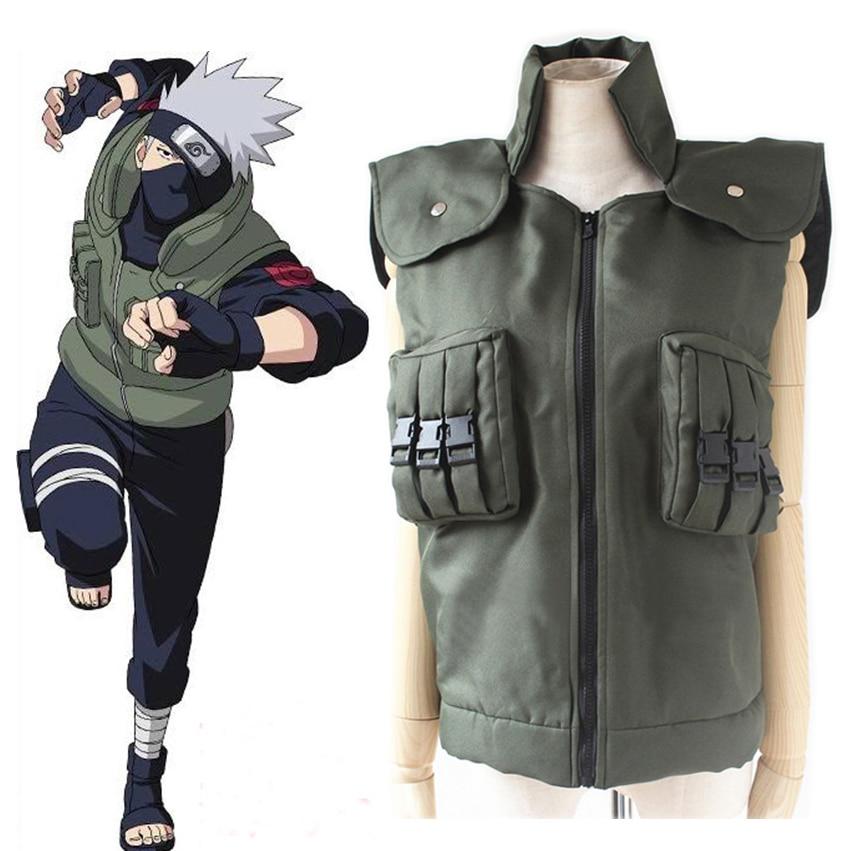 Anime Naruto Shippuden Hatake Kakashi Ninja Vest Cosplay Costume Halloween Costumes