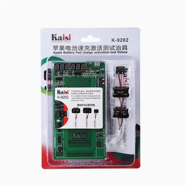 Kaisi k-9202 16 trong 1 professional kích hoạt pin phụ trách với mic usb cable iphone 4/5 s/6/6 s/6 s và cộng với ipad 2/3/4/5/6