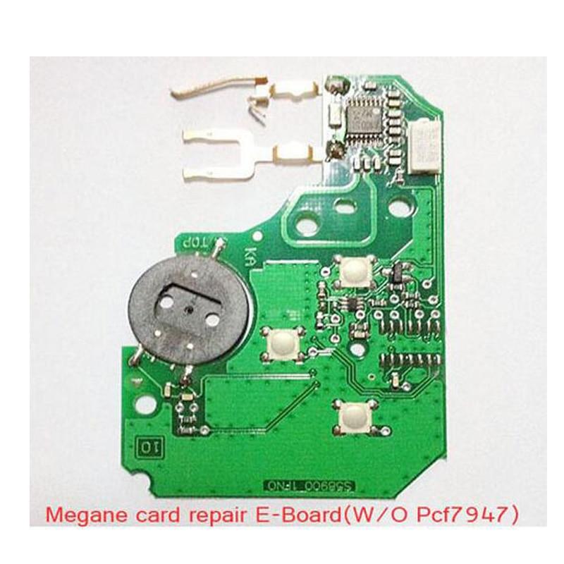 (5pcs/Lot )3 Button Electronic Remote PCB Repair Set for Renault Megane Card without PCf7947 excellent quality 3 button remote card with pcf7947 chip for renault megane clio