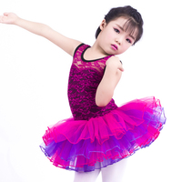 New Kids Ballerina Outfit Purple Lace Flower Ovelay Ballet Tutu Dress Four Layers Of Attached Fluffy