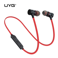 UYG M9 wireless bluetooth earphone earbuds with microphone Bleutooth sport running stereo handsfree for iphone xiaomi Earphones