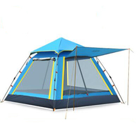 Outdoor Camping Automatic Tent Square Top Large Space Leisure Camping 3 4 Persons Camping tent