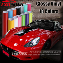 10/20/30/40/50/60*152CM High Quality White black Glossy Vinyl Film Gloss vinyl Wrap Sticker for Car wrapping With air bubbles