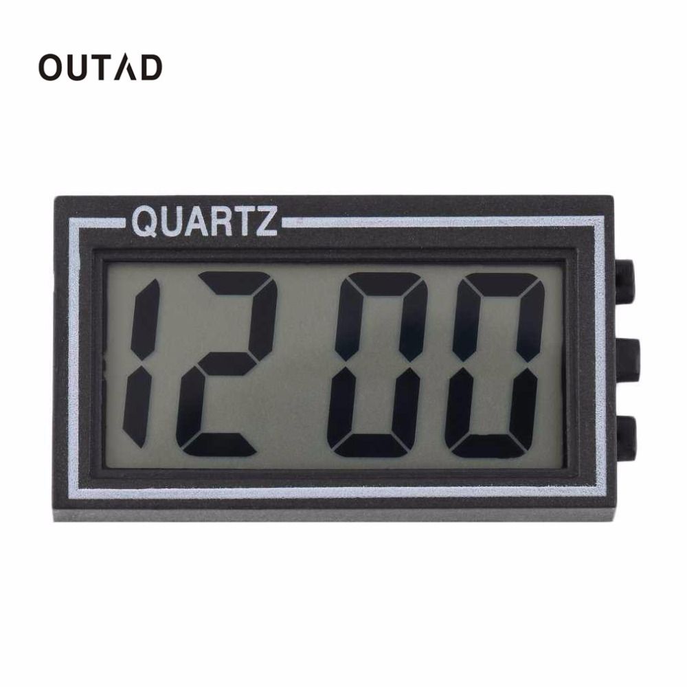 OUTAD NEW Digital LCD Table Car Dashboard Desk Date Time Calendar Small Clock new arrival